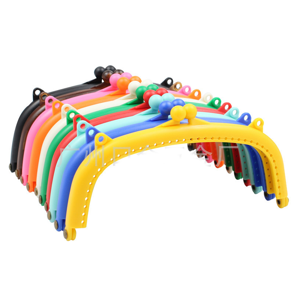 DIY Women Colorful Plastic Purse Frame Clasp For Bag Making Accessories 16cm
