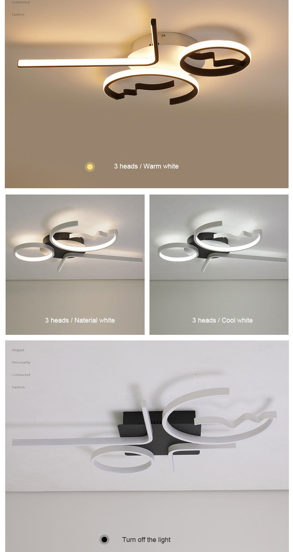 H16998cbd9b1944889cf9ece4dcec27d5J Aluminum Wave Ceiling Lights Modern LED Lamp for Living room Bedroom luminaire plafonnier Bedroom Ceiling Lamp Lampara de techo