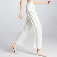 2019 Women's fashion original design heavy silk wide leg