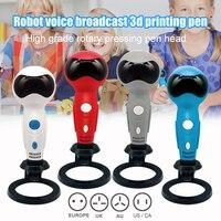 Neue 3D Kritzeln Stift Smart Roboter Form Stimmen Schnelle USB 3D Druck Stift für Kinder DOM668