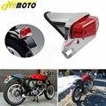Мотоциклетный светодиодный задний фонарь для Triumph Cafe Racer хромированный задний фонарь тормозной фонарь Lucas Style Taillamp для Harley Honda Yamaha Bobber