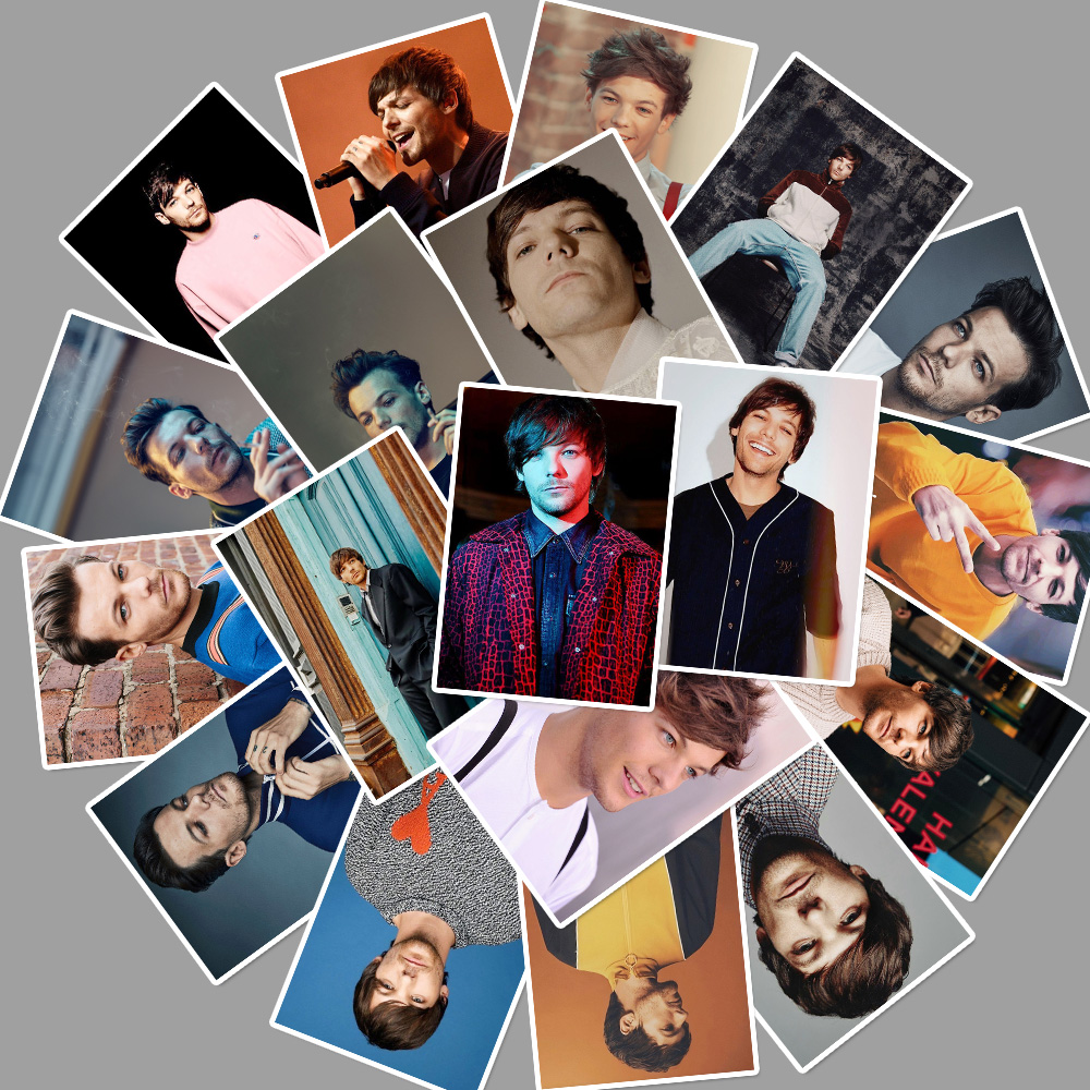 25pcs Singer Louis Tomlinson Stickers For Car Laptop PVC Backpack Water Bottle Pad Bicycle waterproof Decal Toy