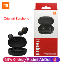 Original Wireless Headphones Xiaomi Redmi AirDots 2 TWS Bluetooth 5.0 Earphones with Mic AI Control MI True Wireless Headset