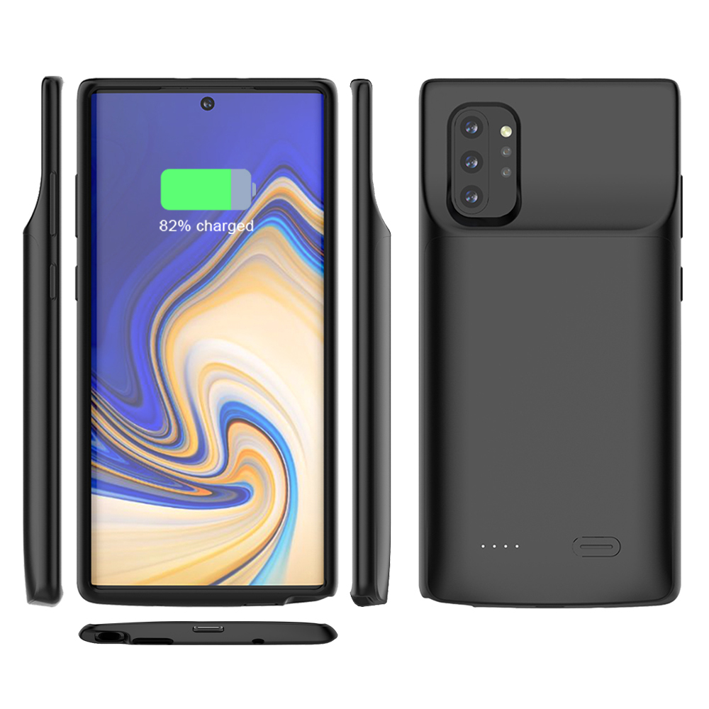For Samsung Galaxy Note 10 Plus Battery Charger Case 6000mAh External Backup Charger Power Bank Protective Cover Note10 Note 10+