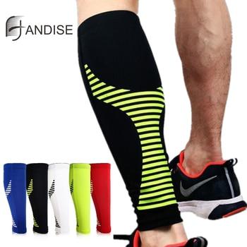 Nova função de compressão de bezerro manga correndo esportes ciclismo meias aquecedores perna das mulheres dos homens futebol meia protetor shin guard 1 pcs 1