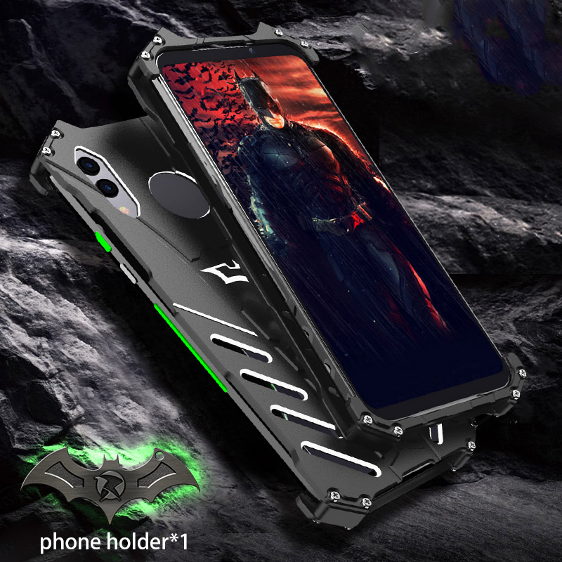 For Xiaomi Black Shark 2 Pro Case R-JUST Batman Luxury Aluminium Metal Case For Black Shark 2 Phone Cover Coque BlackShark 2 pro