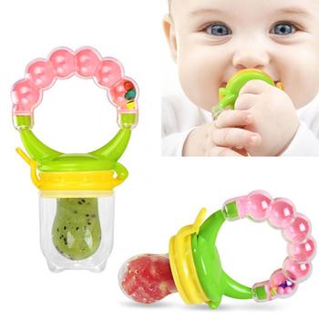 1 sztuk świeże jedzenie smoczki dla dzieci karmniki dla dzieci smoczki dla bezpieczne karmienie produkty dla dzieci uchwyt ząbkowanie smoczki tanie i dobre opinie Silica gel CN (pochodzenie) 4 miesięcy Smoczek