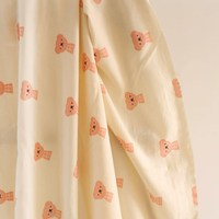 Export Japan and Korea cotton beige bear children's clothing fabric DIY fabric