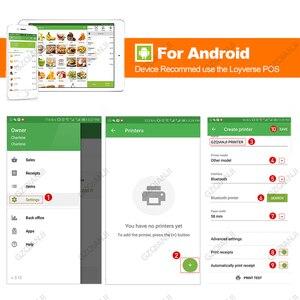 Image 5 - Impresora térmica Bluetooth de 58mm y 2 pulgadas, Mini Impresora inalámbrica portátil de bolsillo para teléfono Android, Windows, aplicación gratuita Loyverse