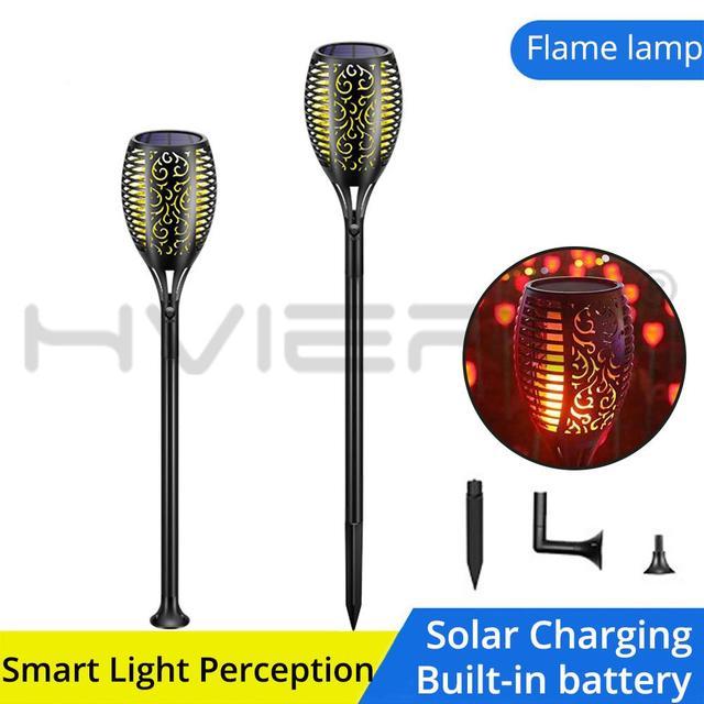 Светодиодный светильник с пламенем на солнечной батарее водонепроницаемый