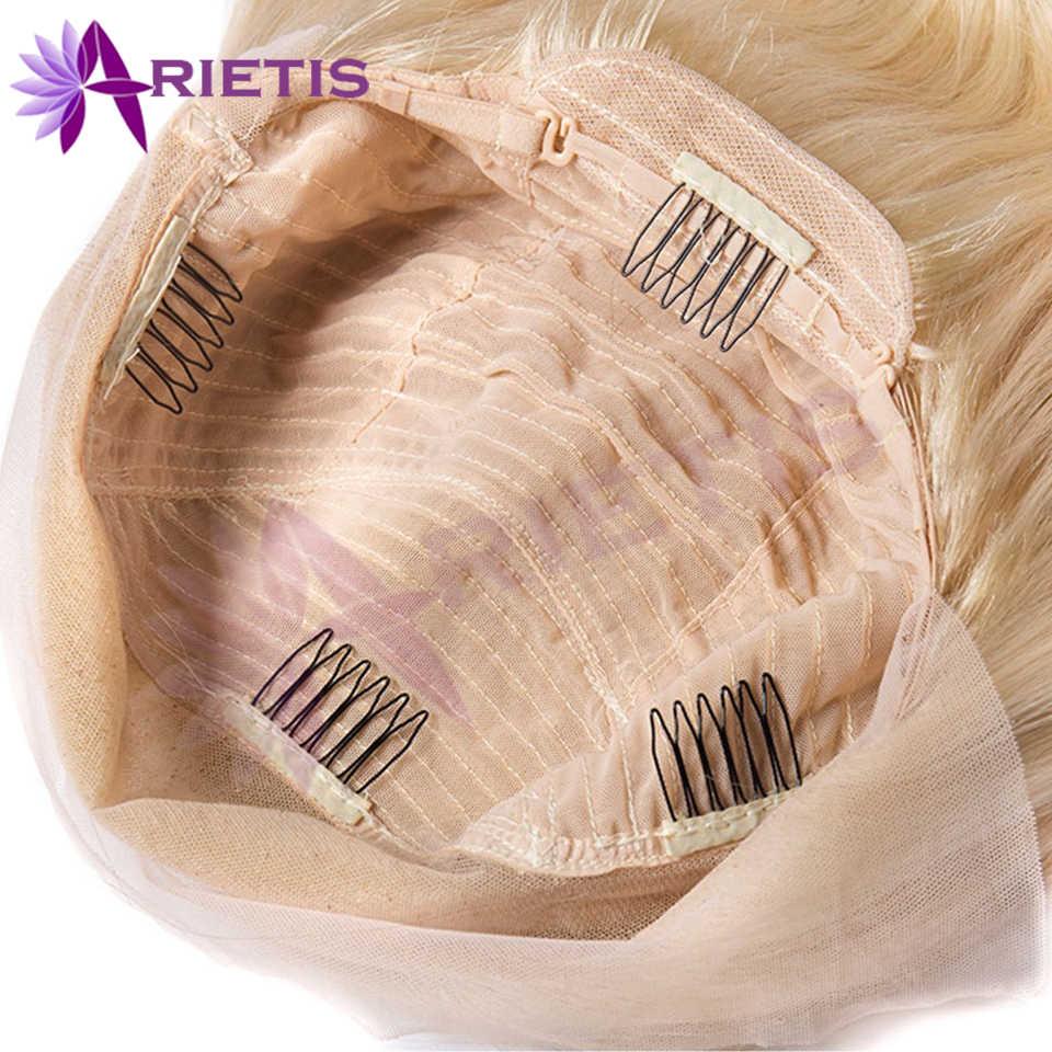 13x4 613 miel blond preplumed brésilien perruque Remy cheveux vague de corps perruque sans colle dentelle avant perruques de cheveux humains pour les femmes noires