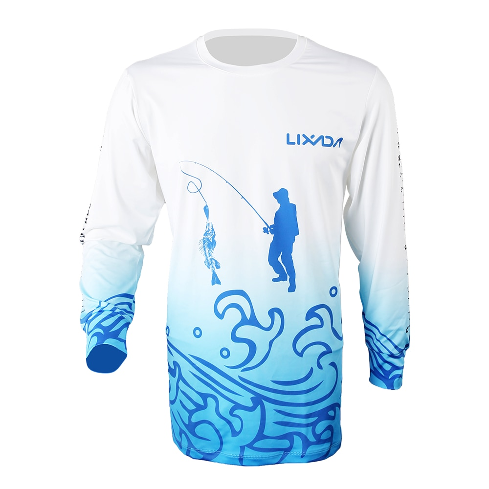 Lixada Breathable Long Sleeve Fishing Shirt Anti Mosquito Quick Drying Summer Fishing Clothing For Men Sunscreen Fishing Shirts