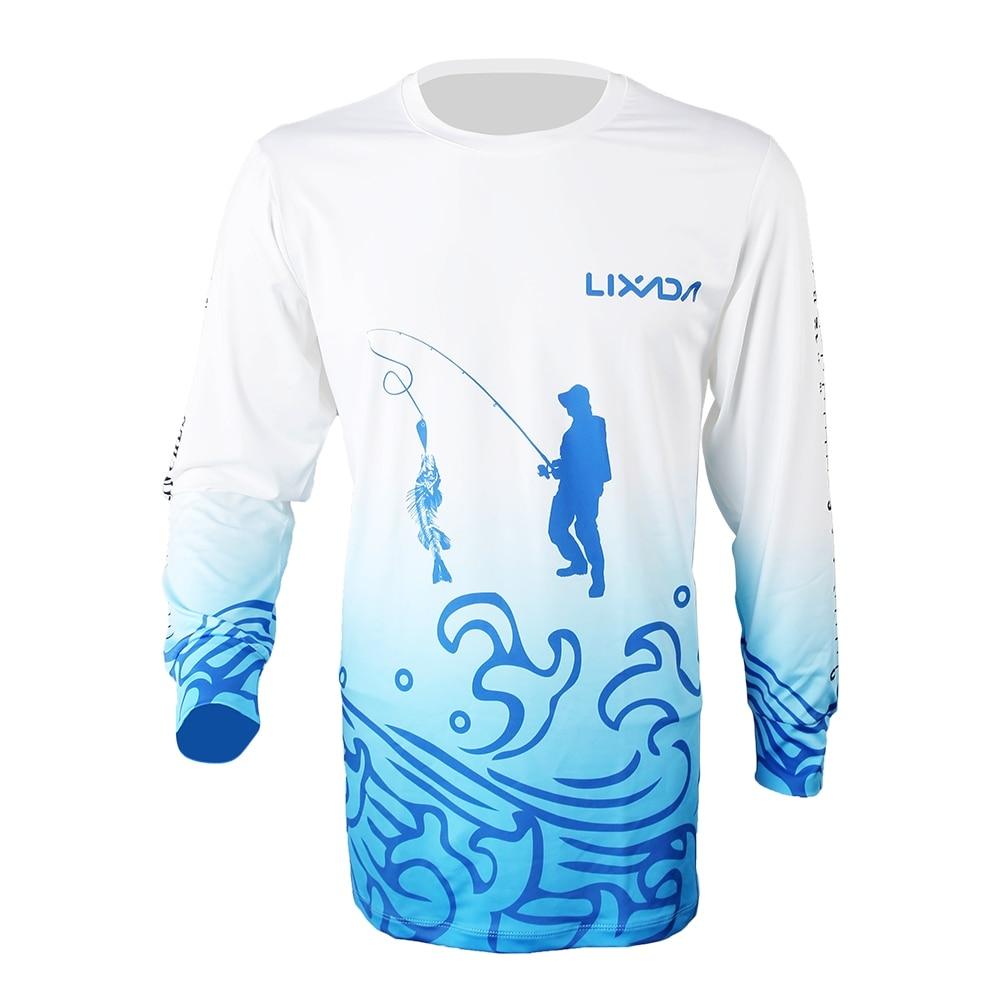 Lixada Breathable Long Sleeve Fishing Shirt Anti Mosquito Quick Drying Summer Fishing Clothing for Men Sunscreen Fishing Shirts|Fishing Clothings| |  - title=