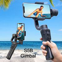 Orsda S5B stabilizzatore cardanico 3 assi Smartphone azione Gopro videocamera PTZ stabilizzatore portatile cellulare per telefono Xs Xr X 8 Plus 11