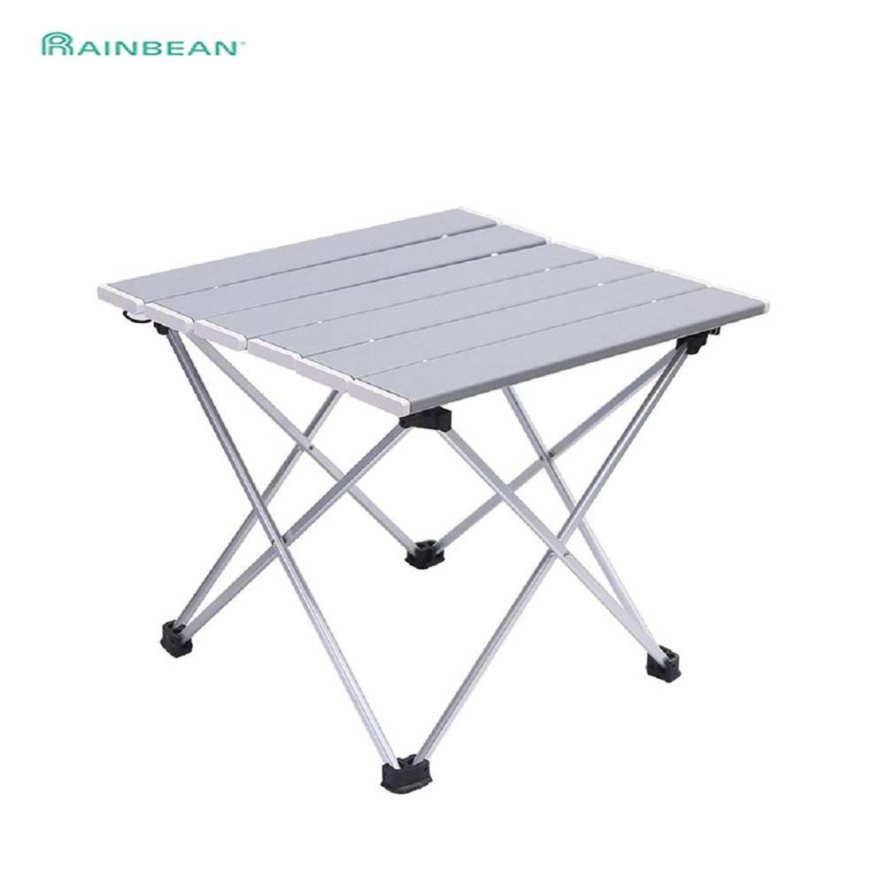 Portable Table Foldable Camping Hiking Desk Traveling Outdoor Furniture Folding Picnic Stool Aluminum Alloy Ultra-light S L