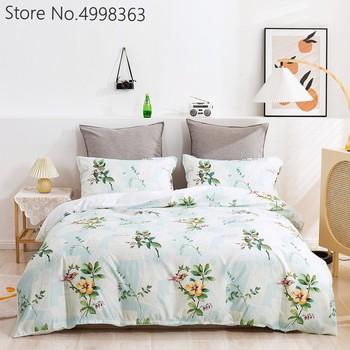 Komplety pościeli kwiatowej 2 3 sztuka łóżko kapa na kołdrę 3D kwiatowy kołdra z nadrukiem zestaw styl skandynawski dziewczyna dekoracja sypialni komplety pościeli tanie i dobre opinie POLIESTER W stylu północnoeuropejskim Kołdra i 2 sztuk poszewki na poduszkę 90gsm CN (pochodzenie) podstawowe Bez wzorków