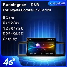 4G LTE Android 10.1/9/8.1 Fit TOYOTA Corolla E120 e 120 2013 2019 Multimedia Stereo Car DVD Player Navigation GPS Radio