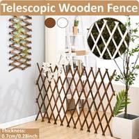 Expandindo jardim de madeira anticorrosivo puxar rede parede cerca painel planta escalada treliça suporte para casa quintal decoração do jardim|Cercas  grades e portões|   -