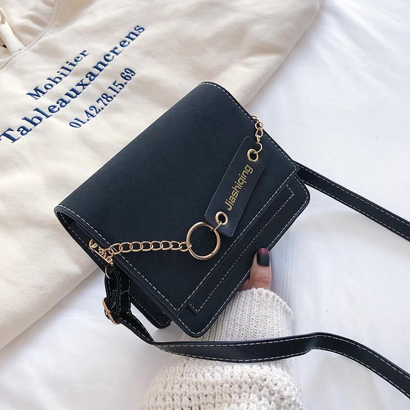 Hit Color Portable Big Bag Wild Casual Simple Shoulder Messenger Bag