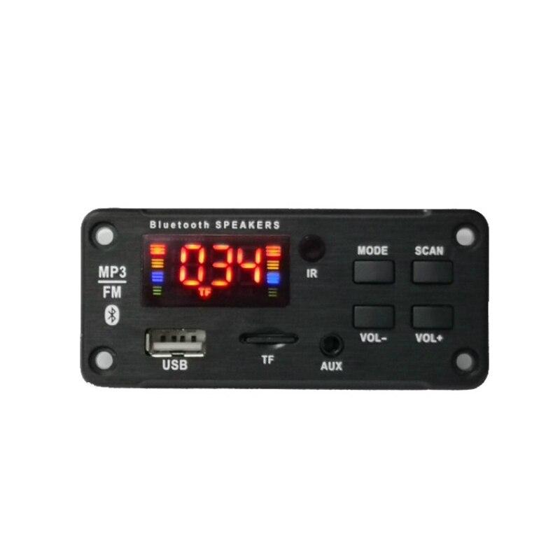 DC 12V sans fil Bluetooth MP3 WMA décodeur carte Support de Module Audio USB TF AUX FM Audio Radio voiture MP3 haut-parleur