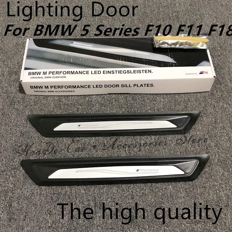 Пара освещения порога для BMW 5 серия F10 F11 F18 520Li 525Li 530Li M производительности светодиодный дверь шаг порог машины
