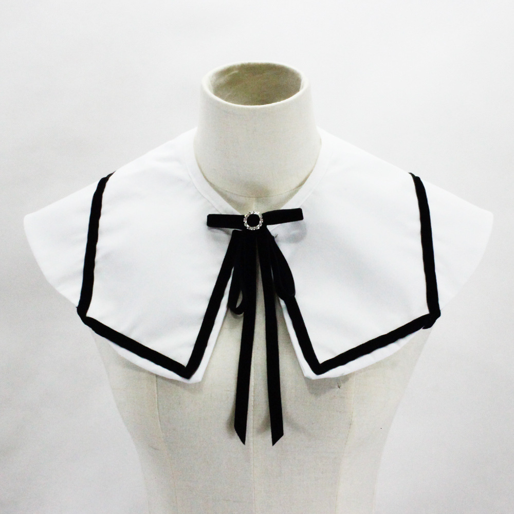 Cotton Shawl Dickie Bow Decoration Lead Fake Collar Detachable White Shirt Women Necklace Wholesale New Free Shipping