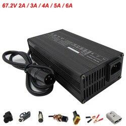 67.2V 2A 3A 4A 5A 6A Charger 60V Li-ion Charger GX16 XLRM Connector for 16S 60 V lithium Electric Bike Battery pack 110V / 220V