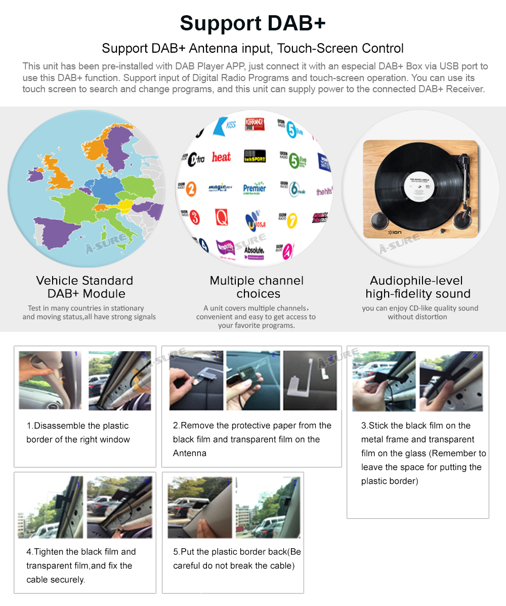 WIN CE VW 2 Din GPS DVD Golf Polo Passat B6 SEAT RDS DAB + 59