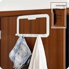 Cabide de parede montado gancho rack sobre o gancho da porta 6 gancho organizador rack ganchos de banheiro para toalha, saco, robe, chapéus, roupas