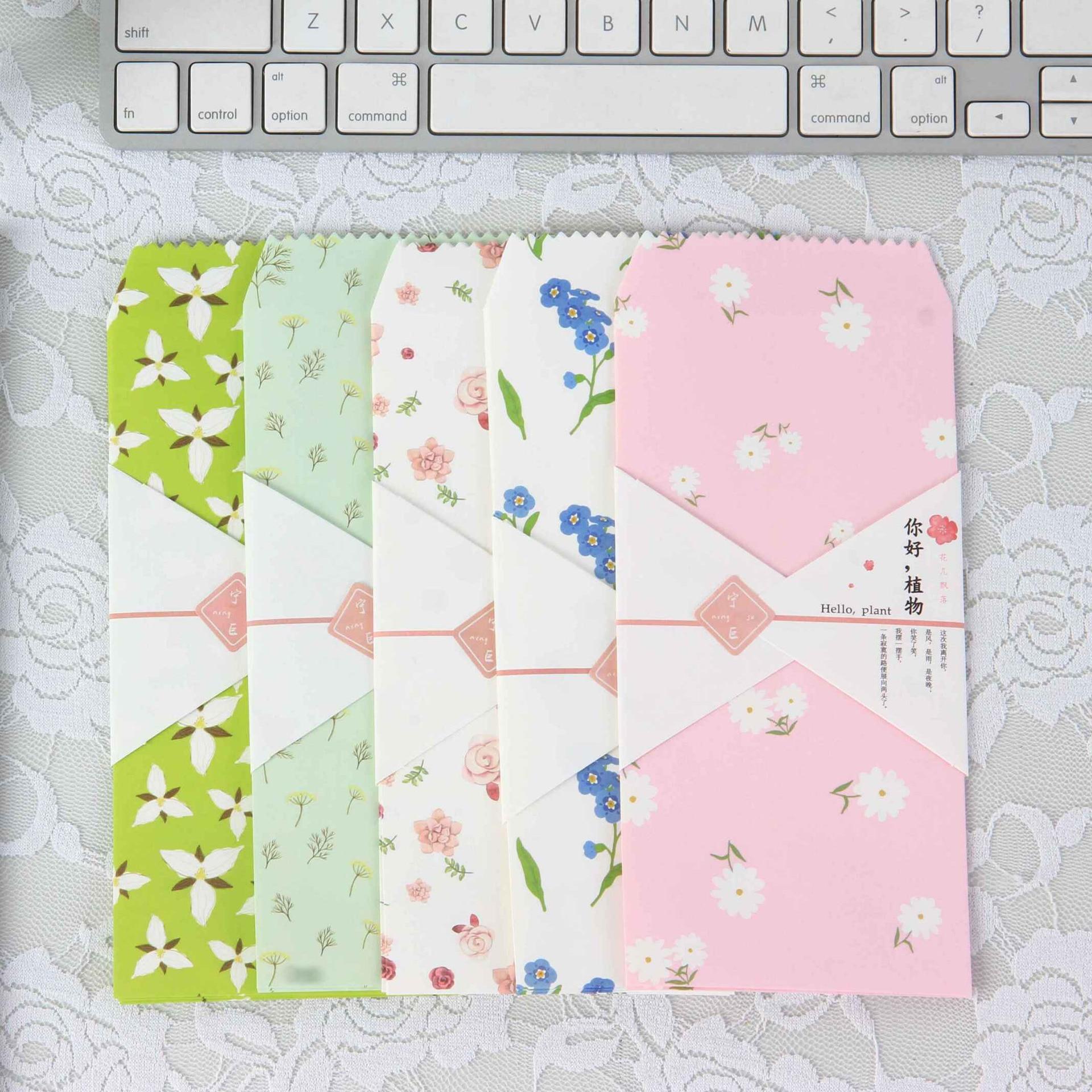 Gen Mo Hello Plant 5 Into Envelope Japanese Style Simple Valentine's Day Confession Love Letter Envelope NJ-012-80