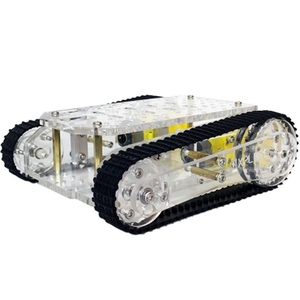 Smart Robot Tank Car Chassis Kits Transparent Crawler Chassis Tracked Platform for Arduino Tank