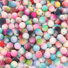 50Pcs 10-15mm Mixed Color White Beige Round Spacer Bead Pearl Beads Loose Handcarft Jewelry Making DIY Bracelet Necklace Jewelry(China)