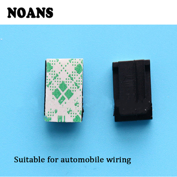 Auto Small Plastic Fixed Clips 40Pcs GPS Data Cable Decorative Cord Fixed Clips for Peugeot 206 Opel Astra h j Kia Ceed Rio 3 4 image