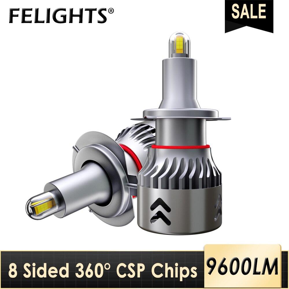 360 градусов h 7 светильник лампа h1 h3 csp лампа hb3 9005 hb4 9006 супер передсветильник РА автомобильная лампа h8 h9 h11 9600lm ампульная СВЕТОДИОДНАЯ 12 в авто...