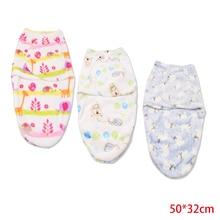50*32cm Flannel Warm Swaddling for Newborn Blanket Baby Receiving Blanket Bedding Cartoon Cute Infant Sleeping Bag for 0-6 M