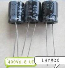 Condensador electrolítico, 50 Uds., 400 V, 6.8 UF, 10x13, 6,8 UF, 400 V, 10x13 MM