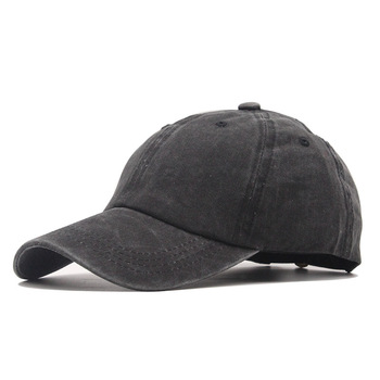 High quality Washed Cotton Adjustable Solid color Baseball Cap Unisex couple cap Fashion Leisure dad Hat Snapback