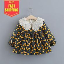 Keelorn 2020 Limited New Cherry Pattern Vestido Infant Baby Dress