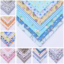 DIY 7pcs/lots 25x25cm Multicolor Mix Pattern 100% Cotton Pur-cut Patchwork Fabric Bundle Sewing Quilting Crafts for Handmade