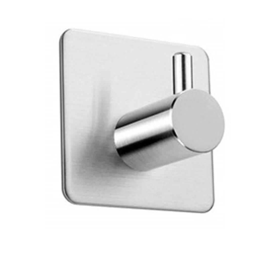 Stainless Steel Bathroom And Kitchen Towel Rails Coat Hooks Without Drilling Metal Punch-free Seamless Strong Adhesive Hook