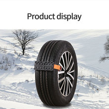 New For Ice/Snow/Mud/Sand Road Safe Driving Truck SUV Auto 2Pcs Tire Wheel Chain Anti-slip Emergency Snow Chains Car Accessories