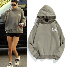 Kanye West Streetwear Oversized Sweatshirt Mannen En Vrouwen Brief Print Fleece Winter Hoodies Stranger Dingen Hip Hop Baggy Hoody