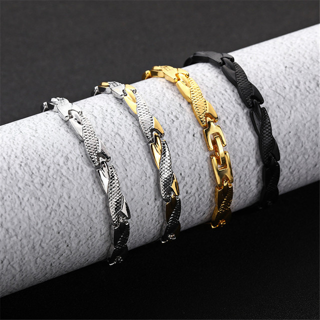 Twisted Healthy Magnetic Bracelet for Women Power Therapy Magnets Magnetite Bracelets Bangles Men Health Care Jewelry Stainless 5