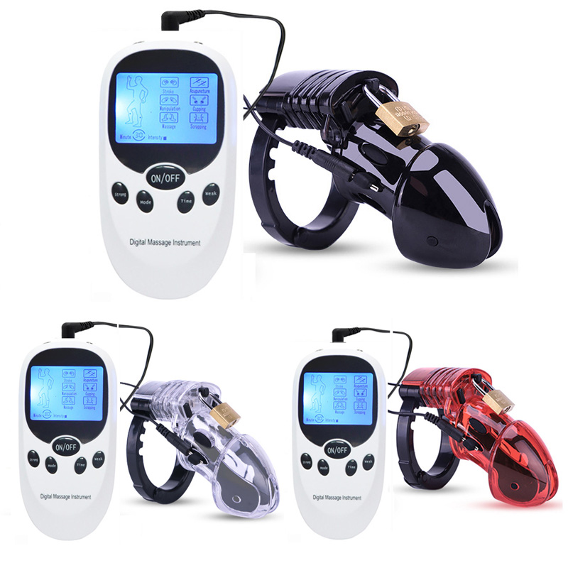 Electro Shock Kit CB6000 Chastity Device Cock Cage Lock Rings <font><b>Ball</b></font> Stretche USB chargeable Host <font><b>Adult</b></font> Games SM <font><b>Sex</b></font> <font><b>Toys</b></font> <font><b>For</b></font> <font><b>Men</b></font> image