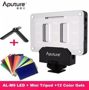 Image 1 - INSTOCK Aputure AL M9 جيب LED الفيديو الضوئي على الكاميرا إضاءة الاستوديو قابلة للشحن إضاءة صور CRI/TLCI 95 لفيلم الزفاف كانون