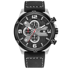 SMAEL Fashion Mens Watches Digital Business Double Movement Leather Strap Watch Military Male Clock Relogio Masculino