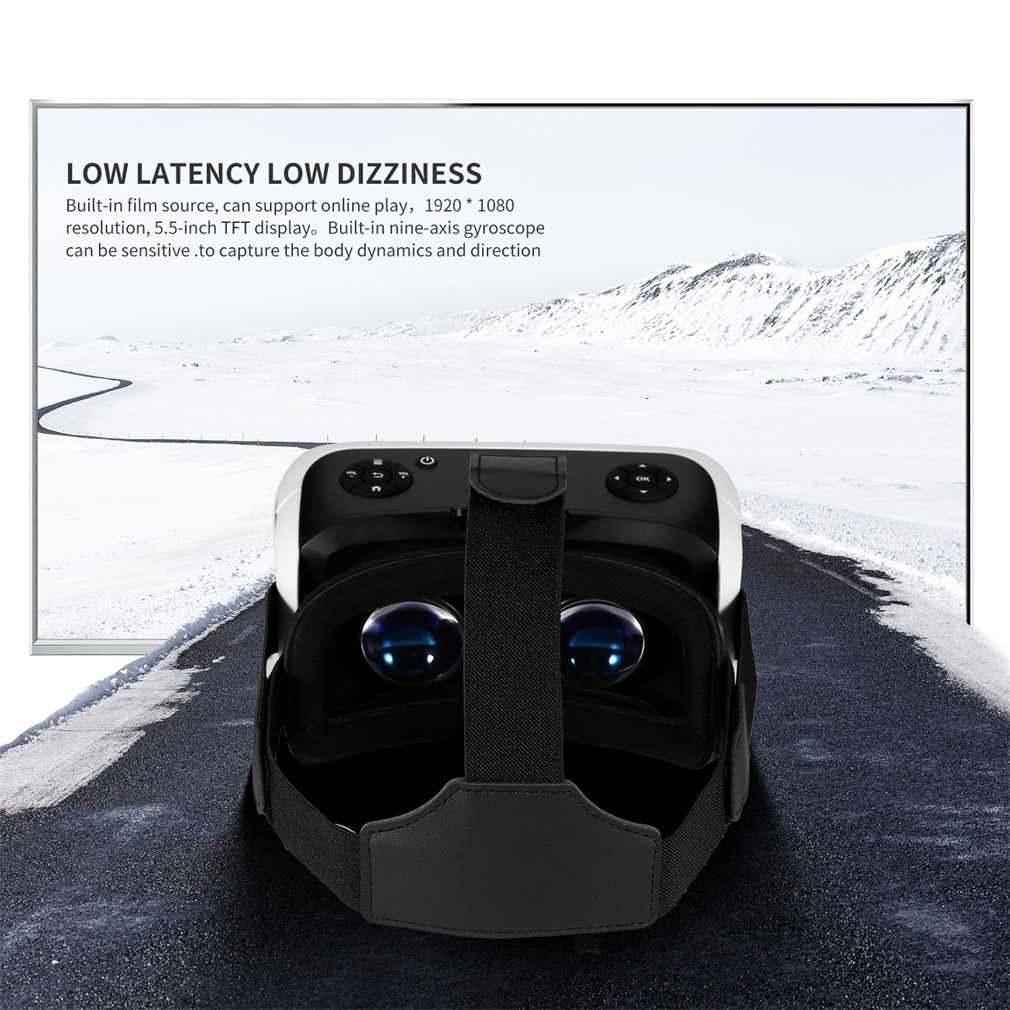 3D VR gafas de realidad Virtual caja de auriculares 1,8 Ghz de cuatro núcleos para PC juegos de películas HDMI 1080P enchufe estadounidense inmersivo