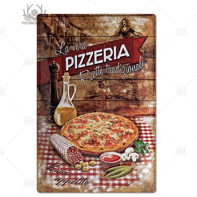 Tin Sign XXL Kitchen  Pizza