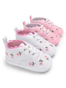 Kids Shoes Prewalker Toddler Embroidered Baby-Girl Floral White Lace