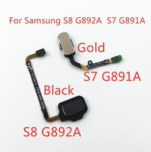 Image 1 - 1 pçs casa botão de menu chave retorno sensor impressão digital cabo flexível para samsung galaxy s7 SM G891A s8 SM G892A toque reparação parte